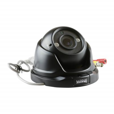 Orange Security Open Dome Turret Camera