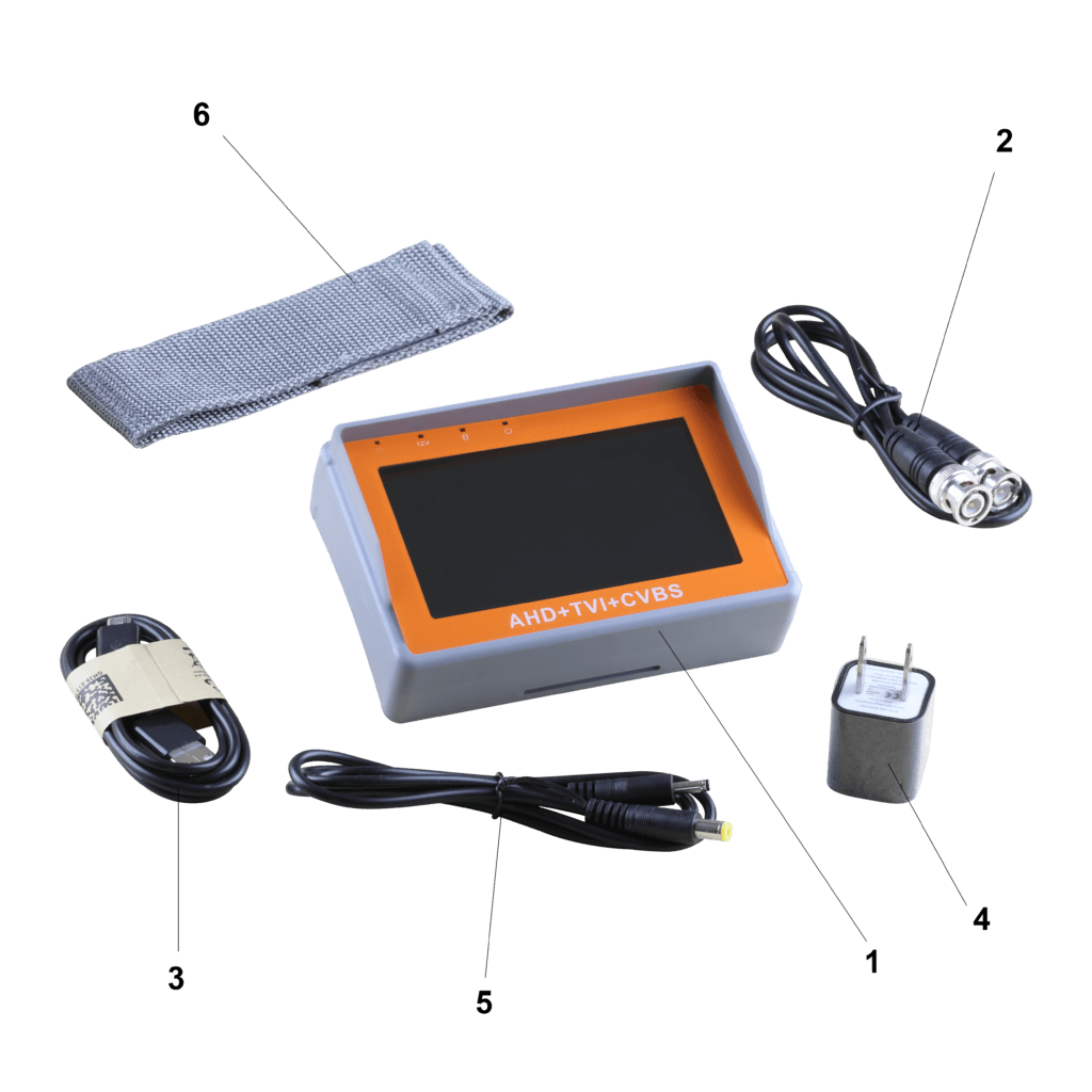 Included Components of a Setup Monitor