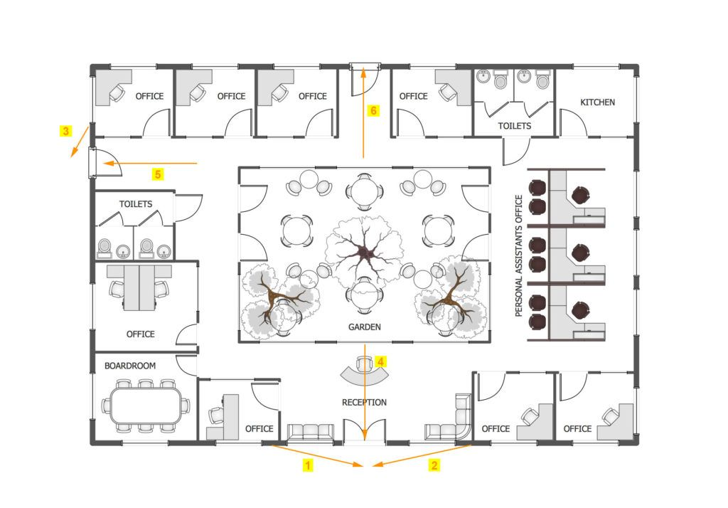 Office Sample System Floor Plan