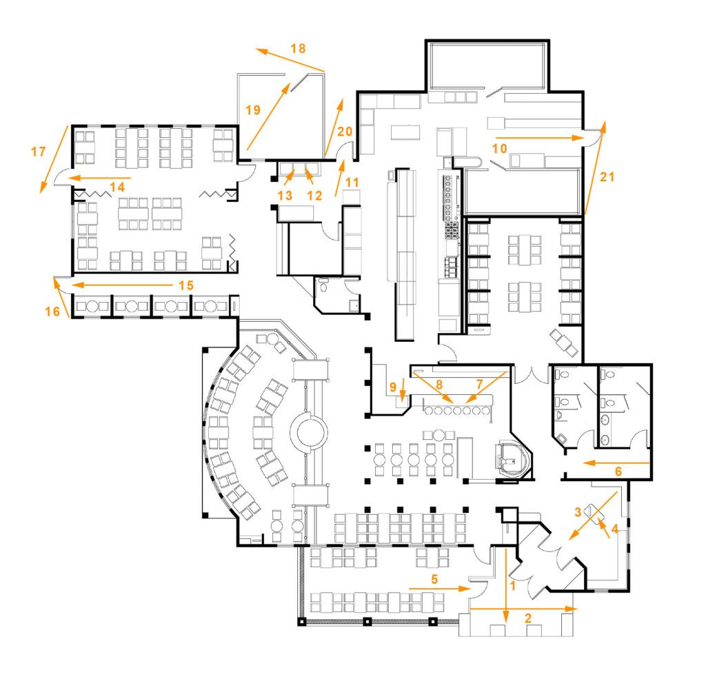 Restaurant Sample System Floorplan
