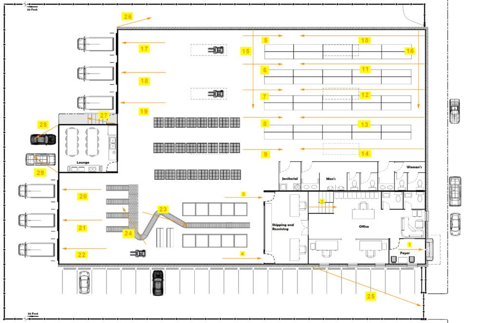 Warehouse Sample System Floorplan