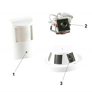 Parts of a Covert Security camera