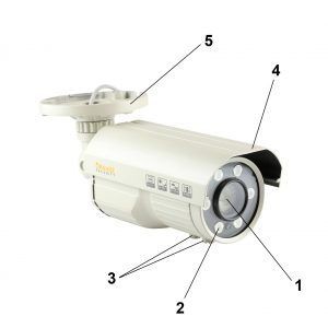 Orange Security Bullet Cameras
