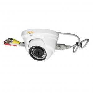 Open dome turret camera with fixed lens